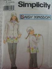 Simp 5946 DAISY KINGDOM FLEECE COAT HAT Sew Pattern