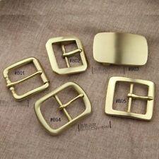 """Hot Solid Brass Pin Belt Buckle Center Bar Belt Strap 1-1/2"""" Fit width 38mm 39mm"""