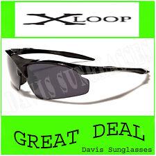 Men's Designer X Loop Sunglasses XL22702 UV400 Davis A1 - Black -