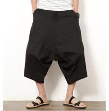 Mens Harem hakama Lin Coton Japonais Samurai Boho Summer Short Pantalon Pantalon
