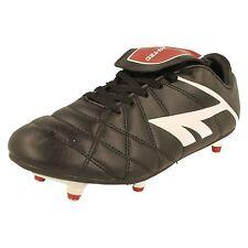 Boys Hi Tec Black Lace Up Football Boots League Pro