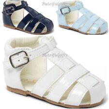 01d0fc77ba86 New listingSevva Boys Spanish Patent Buckle Sandals Infant Sandals Shoes UK Infant  2-8