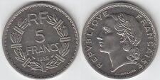Gertbrolen 5  FRANCS LAVRILLIER en  Nickel  1938 Magnifique Qualité