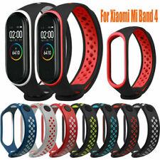 For Xiaomi Mi Band 4 Dual Color Soft Silicone Wrist Strap WristBand Bracelet Ya