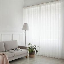 Dekoschal Gardine Vorhang mit Kräuselband  Fensterschal Transparent Voile