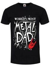 World's most Metal Papá Camiseta Negra para Hombre