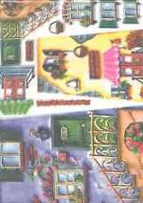 Carta di Riso Collezione Stamperia case 33 x 50 Arte colore hobby entra!!!
