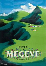 Affiche touristique - Megève