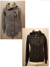 Women Winter Button Jumper Tops Hoodies Hooded Sweatshirt Pullover Coat Jackets