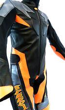 Baby Biker Speed Demon Kids Motorcycle Mini Moto Full Leather Race Suit Orange T