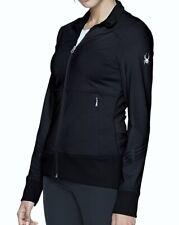 SPYDER NYX Knit Full Zip Black Reflective Running Jacket NEW Womens Sz XS S M