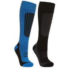 Trespass Langdon II Mens Comfort Ski Socks, Blue/Black - Twin Pack