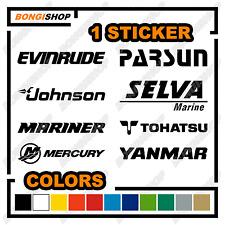 1x Adesivo Sticker Decal: Evinrude Johnson Mariner Mercury Selva Outboard Motor