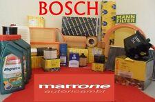 Kit filtri tagliando BOSCH completo + olio CASTROL PEUGEOT 206 1.1 i benzina 00>
