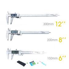 LCD Electronic Digital Vernier Gauge 150/200/300mm Caliper Stainless Micrometer