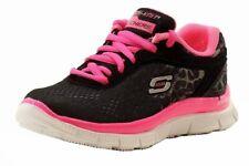 Skechers Girls Skech Appeal Serengeti Black Fashion Memory Foam Sneakers Shoes