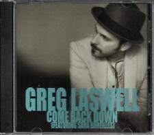 GREG LASWELL & SARA BAREILLES Come w/ RARE MIX PROMO DJ CD single back down 2012