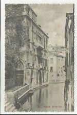 CARTOLINA antica di venezia rio van axel spedita