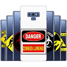 dessana Zombies Warnschilder Silikon Schutz Hülle Case Handy für Samsung Galaxy