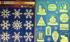 CHRISTMAS XMAS WINDOW/DOOR/WALL/CAR DECORATION STICKERS REUSABLE CLING ART VINYL