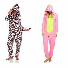 NEW Women's One Piece Pajamas Onesie Costume Union Suit SZ L 2X Dinosaur Giraffe