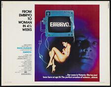 Embryo (1976) Rock Hudson Horror movie poster print