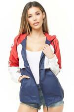 Levi's Women Retro Color Block Logo Windbreaker Lightweight Jacket MSRP $160
