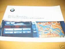 1999 BMW NAVIGATION OWNERS MANUAL COMPUTER GPS 2000