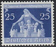 Stamp Germany Mi 620 Sc 476 1936 War Reich Berlin Munich Communal Congress  MNH