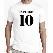 T Shirt CAPITANO 10 Divertente Maglietta TOTTI Cotone Tshirt Calcio happines