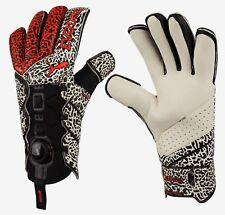 PUMA Men GK evoDISC Goalkeeper Gloves Black White Red Soccer Goalie 04130103