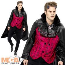 Dapper Devil Mens Fancy Dress Victorian Gothic Halloween Occult Adults Costume