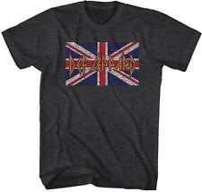 BRITISH FLAG Def Leppard English Rock Band Heavy Metal Hard Rock ADULT T-Shirt