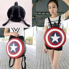 Unisex Unique Avengers Captain America Shield Backpack Student Book School Bag