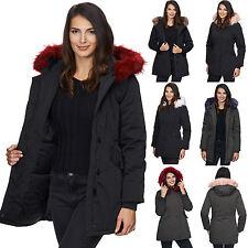 Damen outdoor jacke winterjacke übergangsjacke mantel parka schwarz khaki D-224
