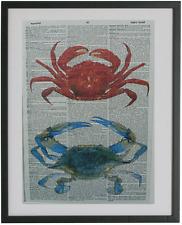 Crab Dictionary Wall Art Print,No.223,nautical poster, nautical wall decor