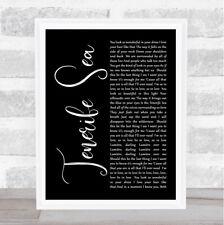 Tenerife Sea Black Script Song Lyric Quote Print