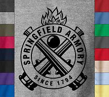 SPRINGFIELD ARMORY Firearms Soft 100% Ringspun Cotton T-Shirt Gun Pistol AK 47