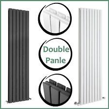 Vertical Flat Panel Designer Bathroom Double Column Radiator Anthracite White