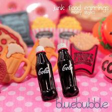 Funky Junk Food Aretes Cute Kitsch Retro Con Dibujo Kawaii De American Snack Food Emo Dulce