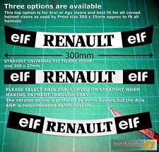 Visière autocollant bande adaptés à ALAIN PROST RENAULT F1 casque en droits ou courbes