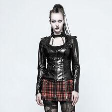Veggie Leder Biker Punk Gothic Jacke Black Jacket