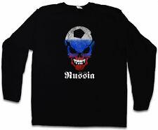 Russian Football Skull Flag manches longues T-shirt Fan hooligans la Russie de Football Drapeau