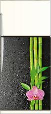 Sticker frigo REPOSITIONNABLE déco cuisine Fleur Bambous 60x90cm Réf 109