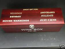 PERSONALIZED WINE BOX W/ TOOLS - FREE ENGRAVING WEDDING