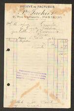 """PARIS (III°) COMMERCE de MERCERIE """"P. JACHIET"""" en 1922"""