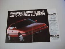 advertising Pubblicità 1991 MAZDA 323