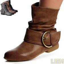 Damenschuhe Stiefeletten Biker Worker Boots Stiefel Booties