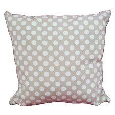 Coussin beige pois blanc salon meubles décoration de maison sofa 100% coton