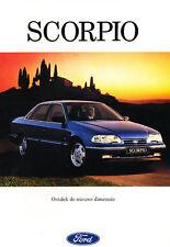 1993 Ford Scorpio Dutch Sales Brochure Book Prospekt